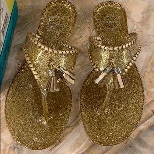 NWB Jack Rogers Sparkle Alana jelly flip flops